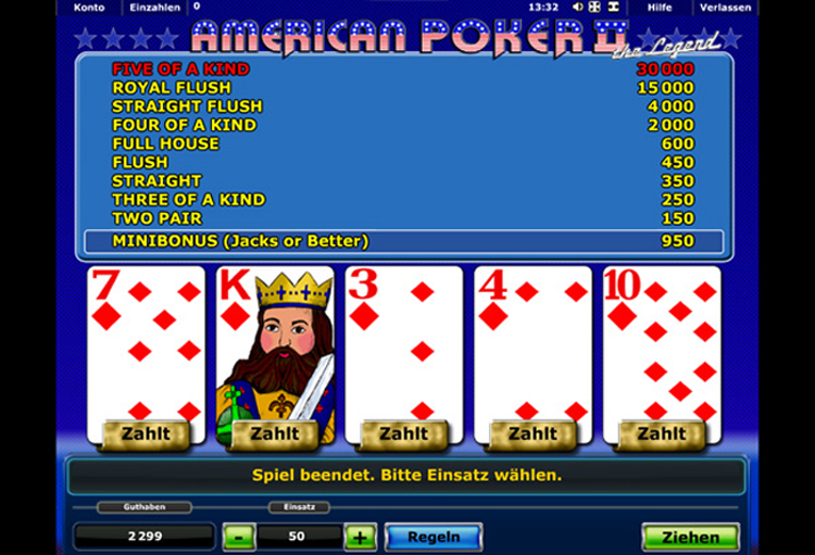 how to play american poker